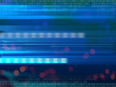 blue digital abstract illustration