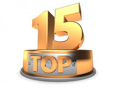 illustration of top 15 symbol
