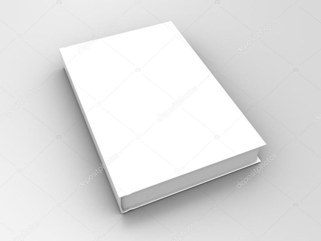 Cookbook White Cover : Bílá kniha s prázdný obal — stock fotografie mmaxer