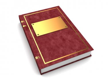 Book with golden and leather cover