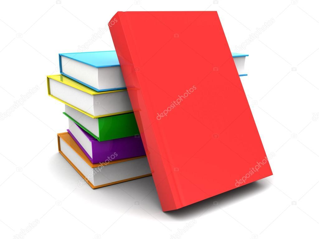 pila de libros coloridos — Fotos de Stock © mmaxer #121614414