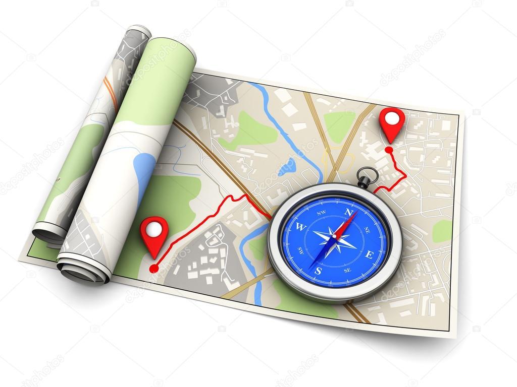 térkép útvonal Útvonal térkép és iránytű — Stock Fotó © mmaxer #124136412 térkép útvonal