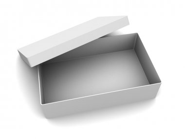 3d illustration of white empty box over white background stock vector