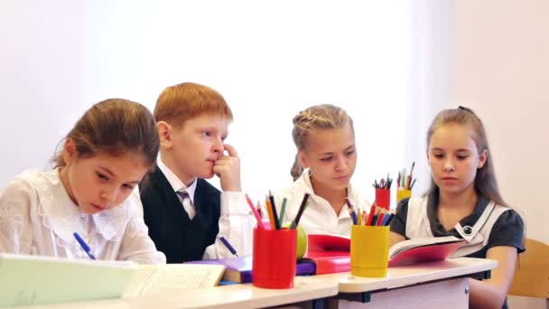 Pupils studying in the classroom