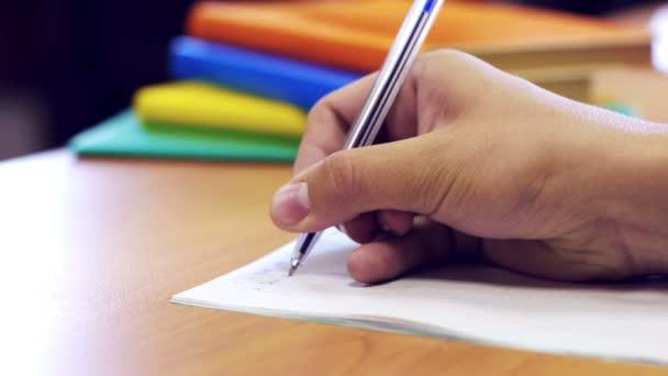Hand writing task