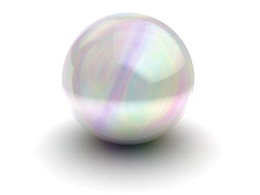 White glass sphere