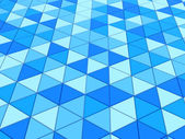 Photo illustration of blue triangles background