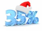 Photo 35 percent discount and christmas hat