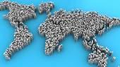 pixelated mapa světa
