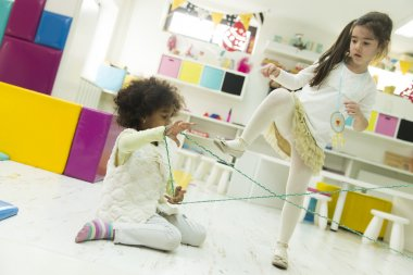 Multiracial children in the playroom