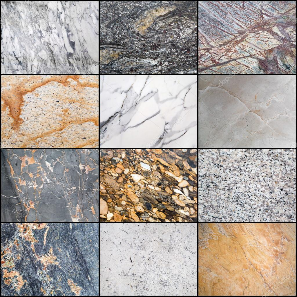 Collage Of Marble Surfaces Stock Photo C Boggy22 113683374