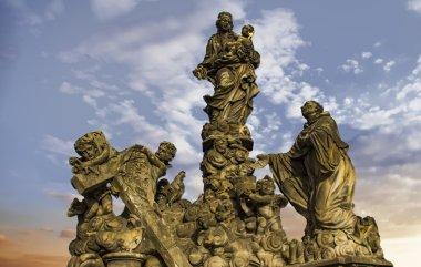 Statue of Madonna and St. Bernard