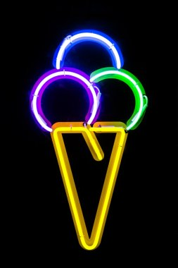 Neon sign for ice cream