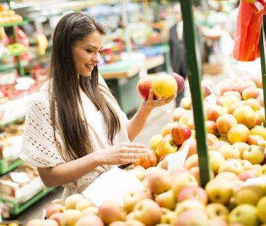 Young woman at market