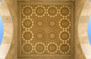 Detail from the mosque Hassan II in Casablanca, Morocco