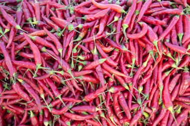 Peppers on the market