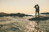 Fotografie mladý pár na pláži