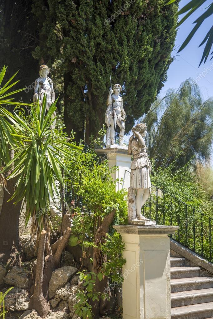 Achilleion statue at Corfu