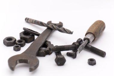 Industrial tools close up