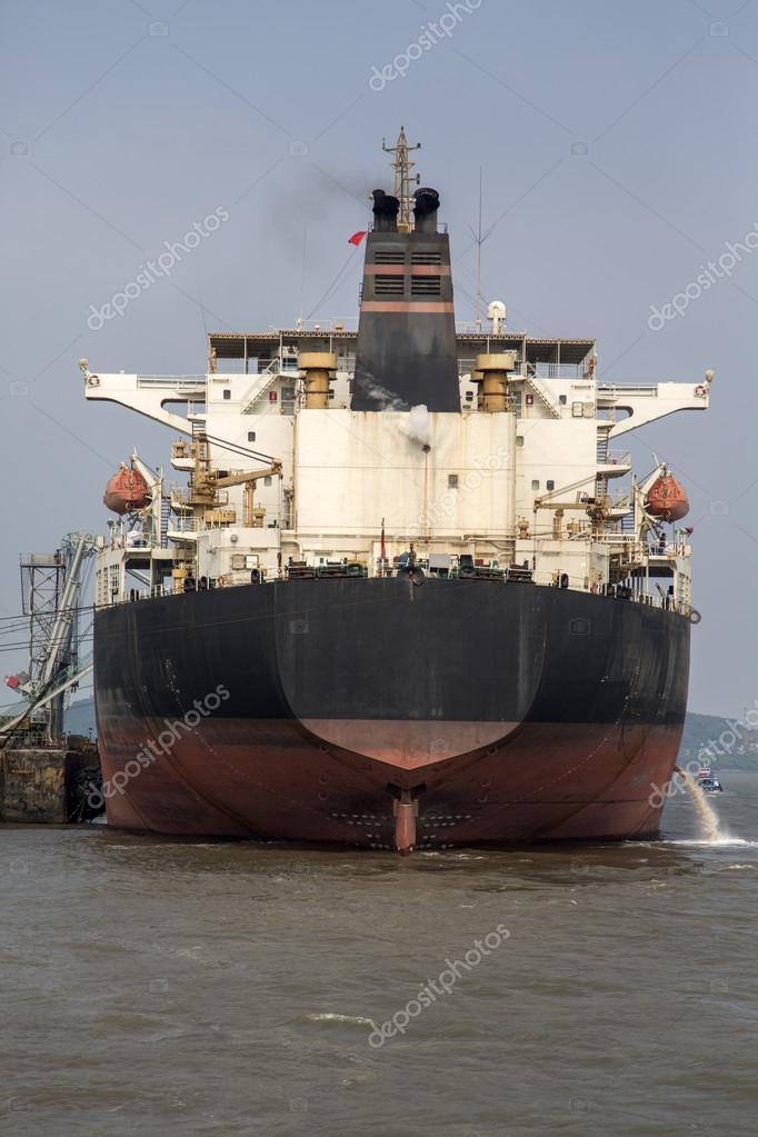 Cargo ship in Mumbai