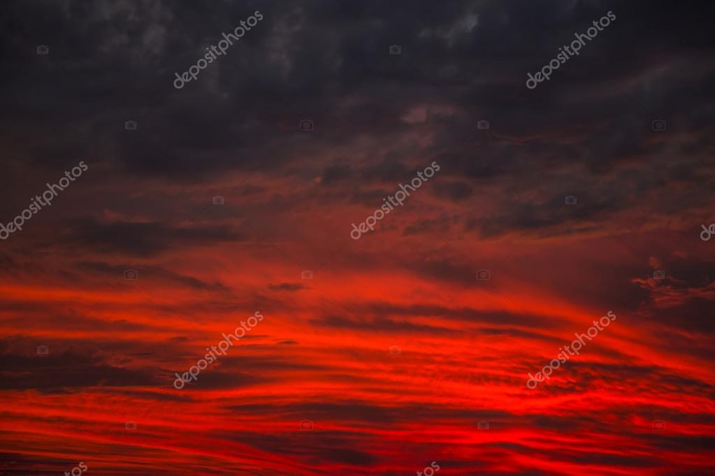 Red sky view