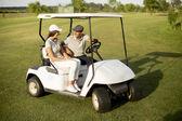 Pár na golfový vozík