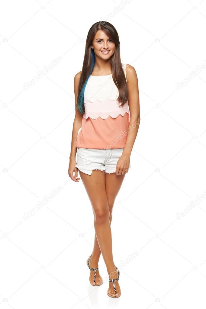 Chica funky de longitud completa verano — Foto de stock ...
