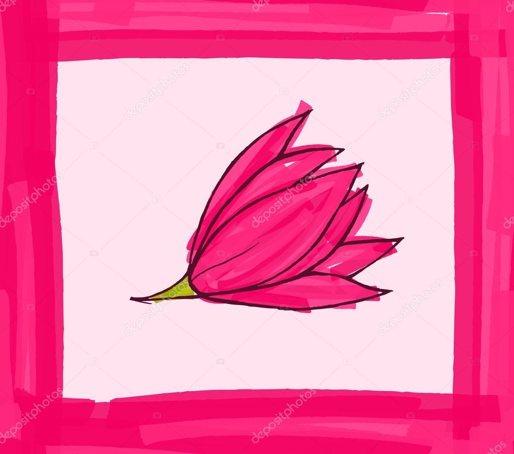Big pink flower with pink border stok vektr zebra finch 112510080 big pink flower with pink border stok vektr mightylinksfo