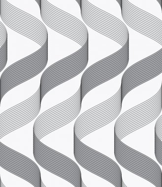 Ribbons making waves with dark and light pattern