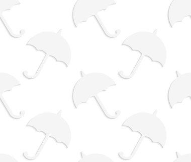 Paper white solid umbrellas