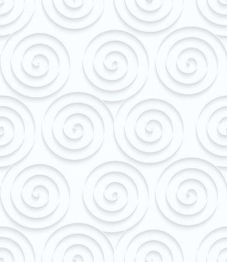 Quilling paper three spirals