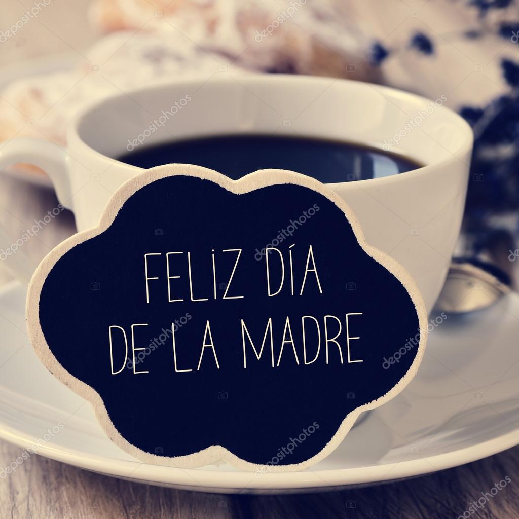 Texto Feliz Dia De La Madre Dia Das Mães Feliz Em Espanhol Stock