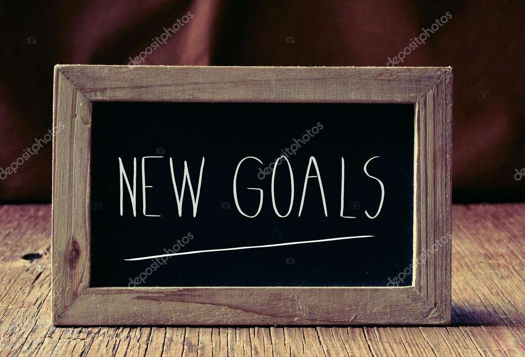 Text neue Ziele in einer Tafel — Stockfoto © nito103 #124433196