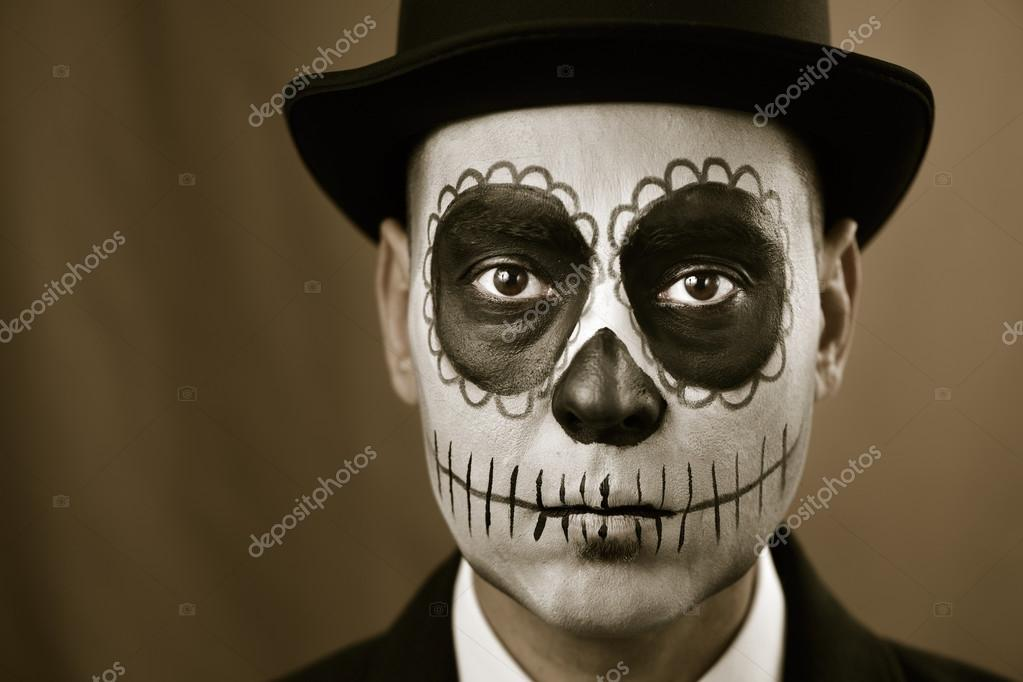 homme avec le maquillage de calaveras photographie nito103 87308046. Black Bedroom Furniture Sets. Home Design Ideas