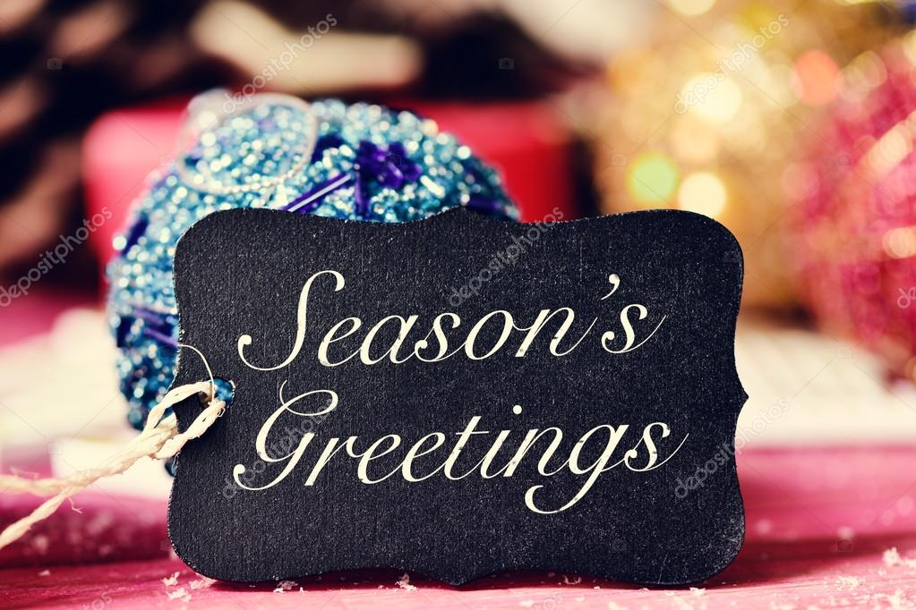 Christmas ornaments and text seasons greetings stock photo christmas ornaments and text seasons greetings stock photo m4hsunfo