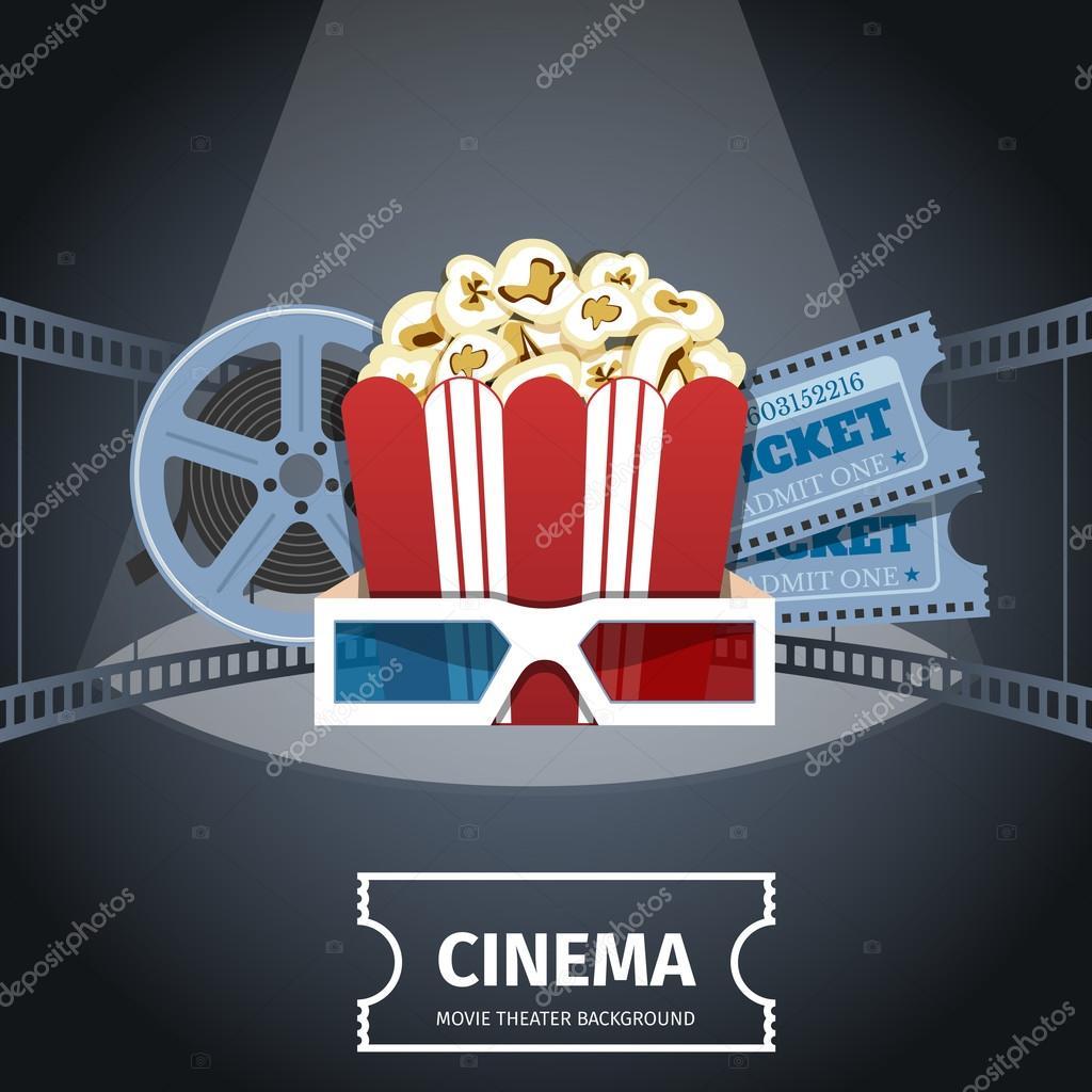 cinema poster design template stock vector genestro 104846104