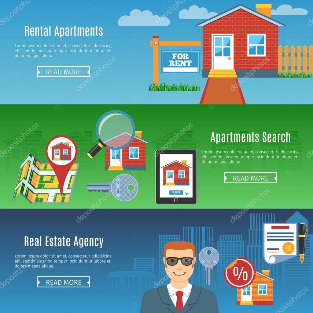 Real Estate Flat Horizontal Banners