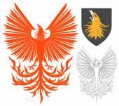 Pták Phoenix červený