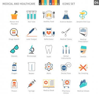 Medical Colorful Icons Set 04