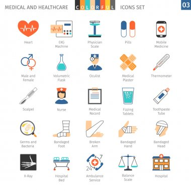Medical Colorful Icons Set 03