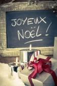 Karácsonyi ajándékok a gyertyát függőleges megtekintése