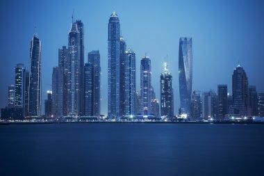 View of Dubai, special photographic processing, UAE stock vector
