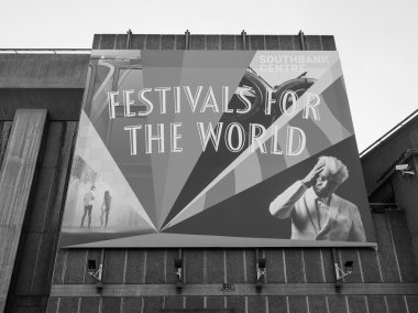 Festivals for the world in London in black and white