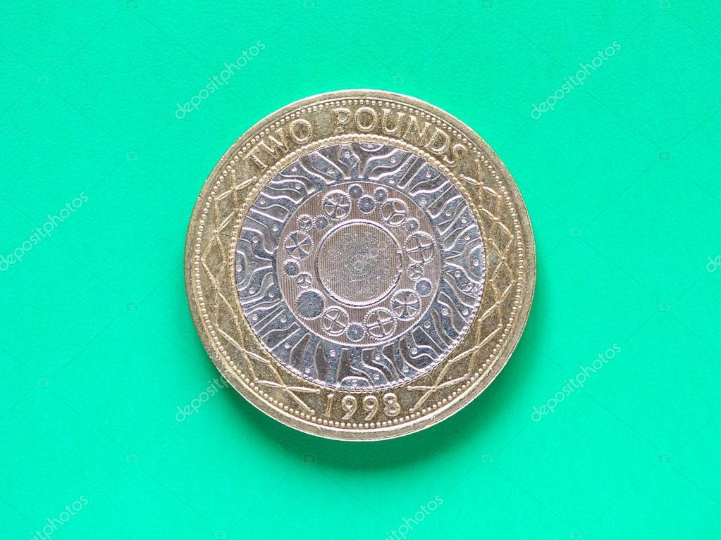 Gbp Pound Münze 2 Pfund Stockfoto Claudiodivizia 103475936