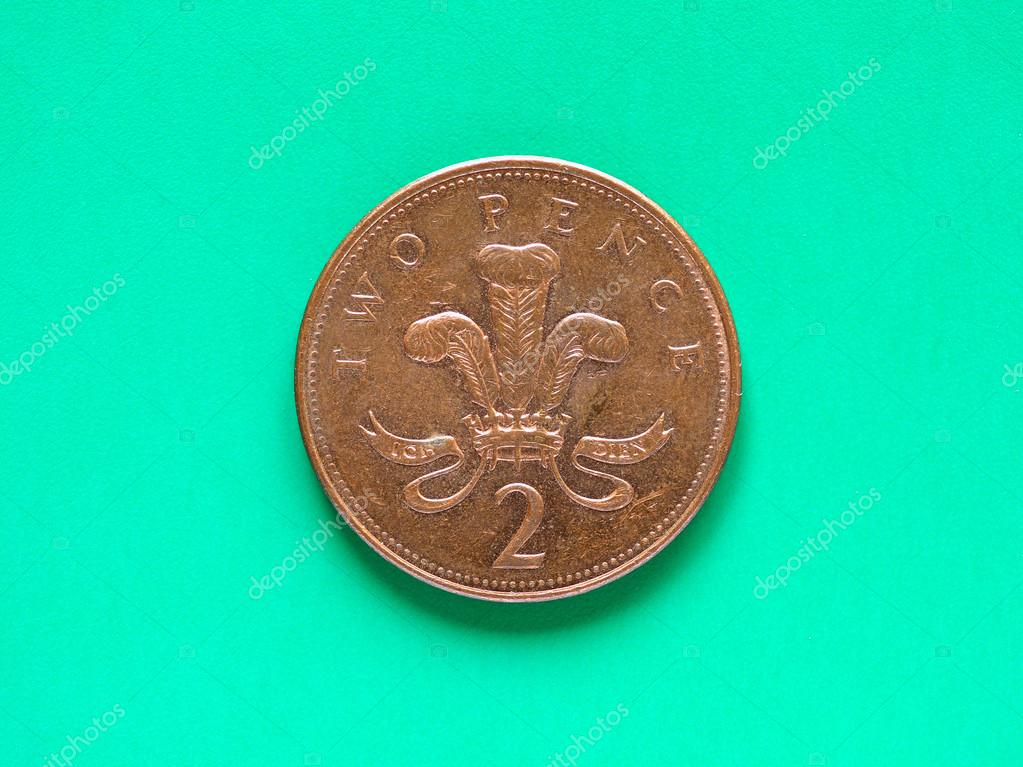 Gbp Pound Münze 2 Pence Stockfoto Claudiodivizia 103477434