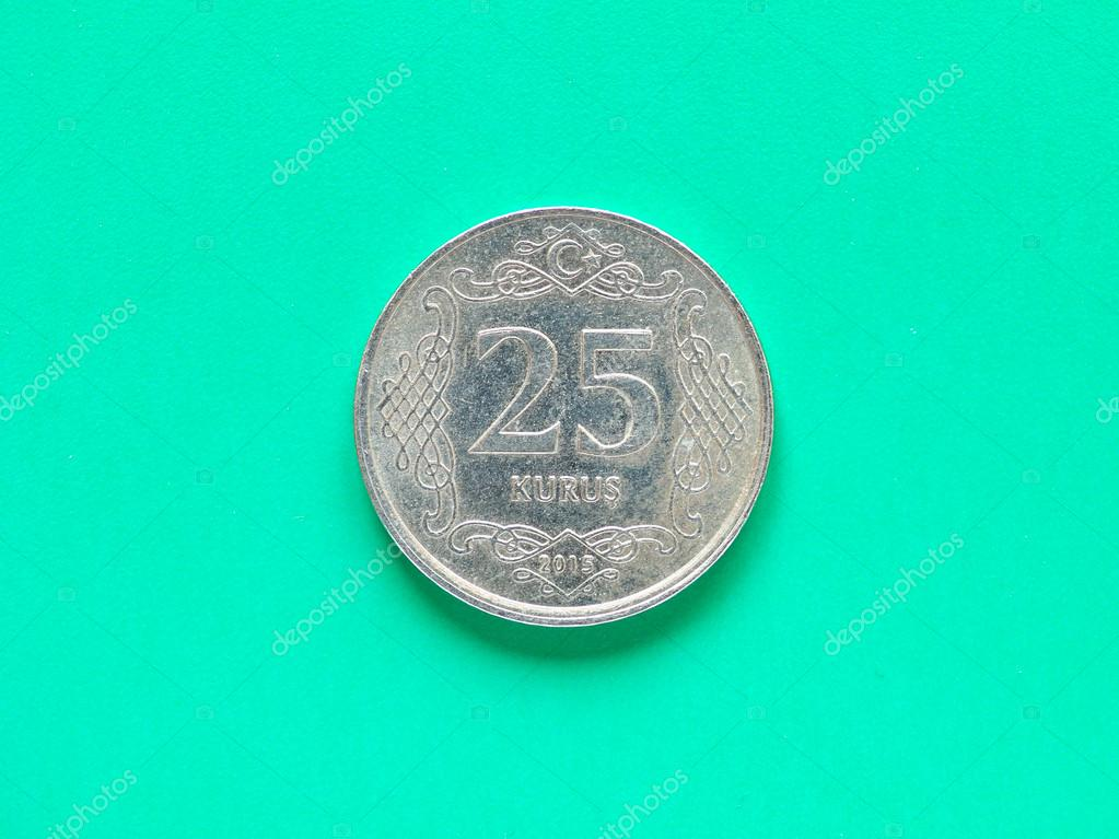 pena ze 25 kurus mince z turecka fotografie od claudiodivizia