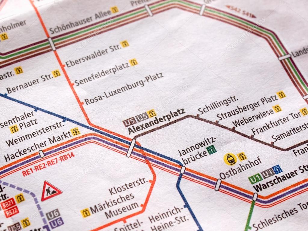 Metro De Berlin Mapa.Detalle Del Mapa Del Metro De Berlin Foto Editorial De