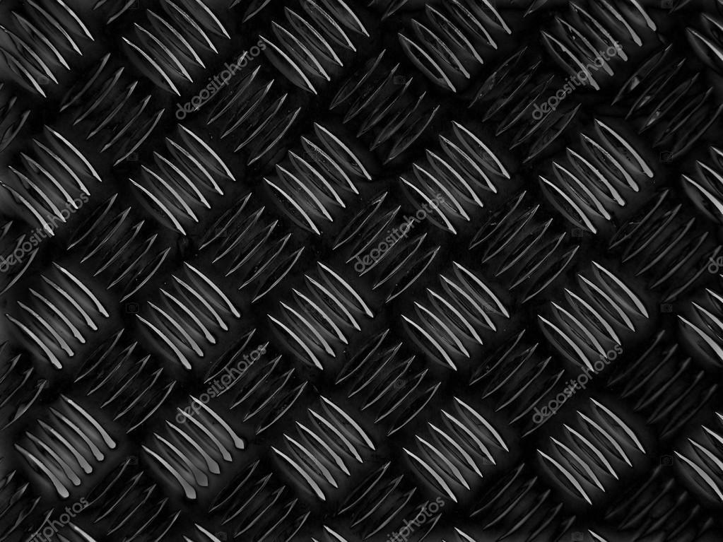 Schwarzer Stahl schwarzer stahl diamant platte hintergrund stockfoto