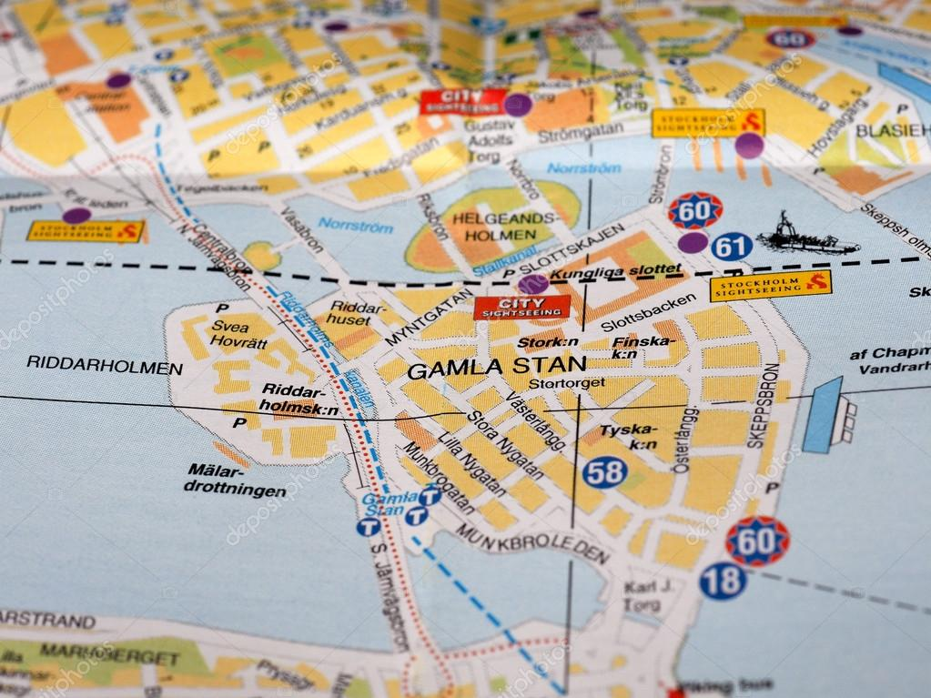 Map detail with selective focus – Stock Editorial Photo ... on