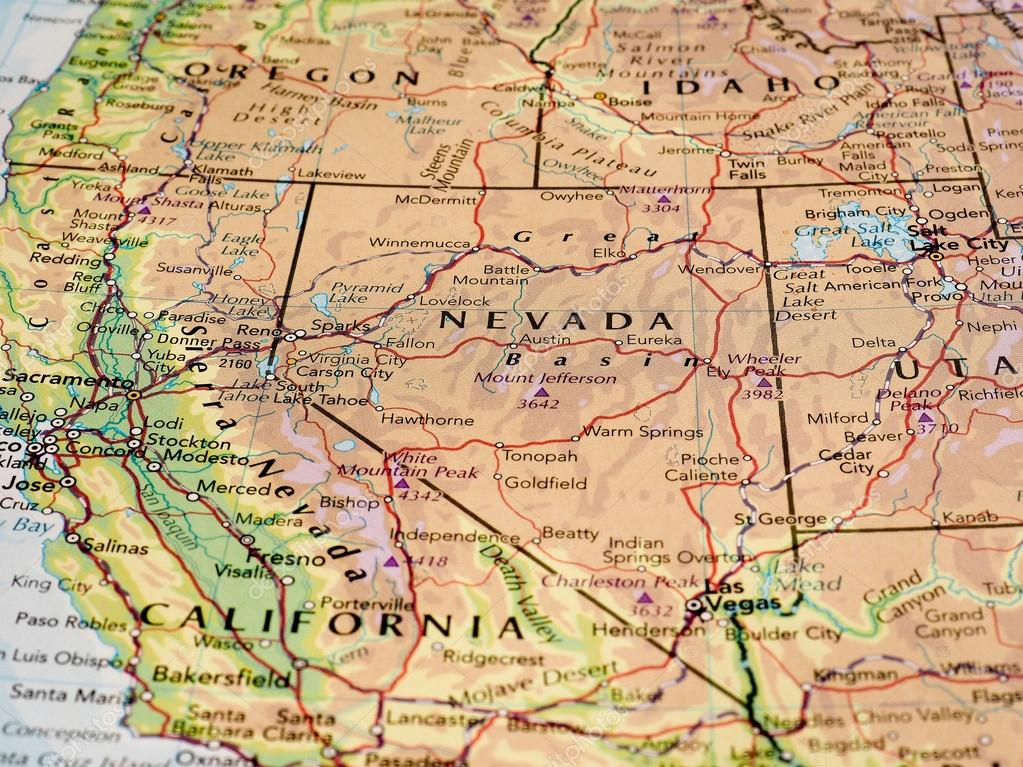 Nevada Map Of The State With Selective Focus Stock Editorial Photo C Claudiodivizia 108662088